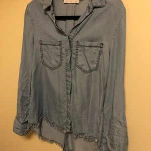 Potters Pot Denim Shirt Size Medium